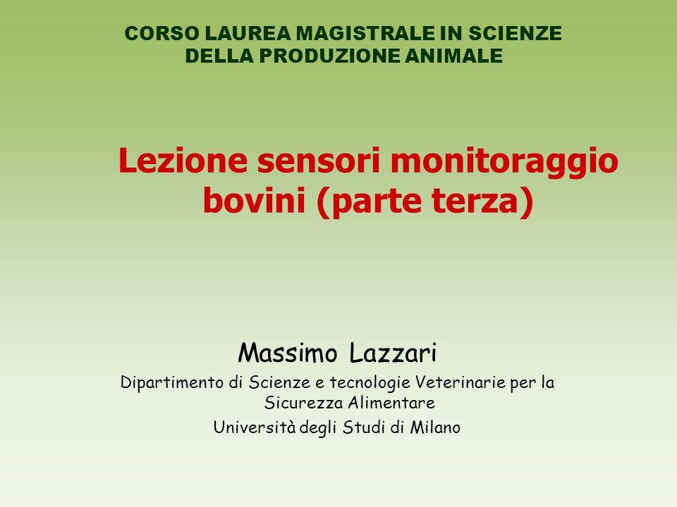 Lezione sensori monitoraggio bovini (parte terza)