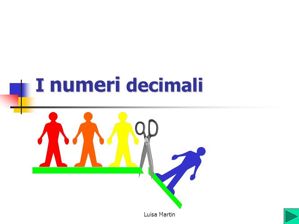 I numeri decimali Luisa Martin