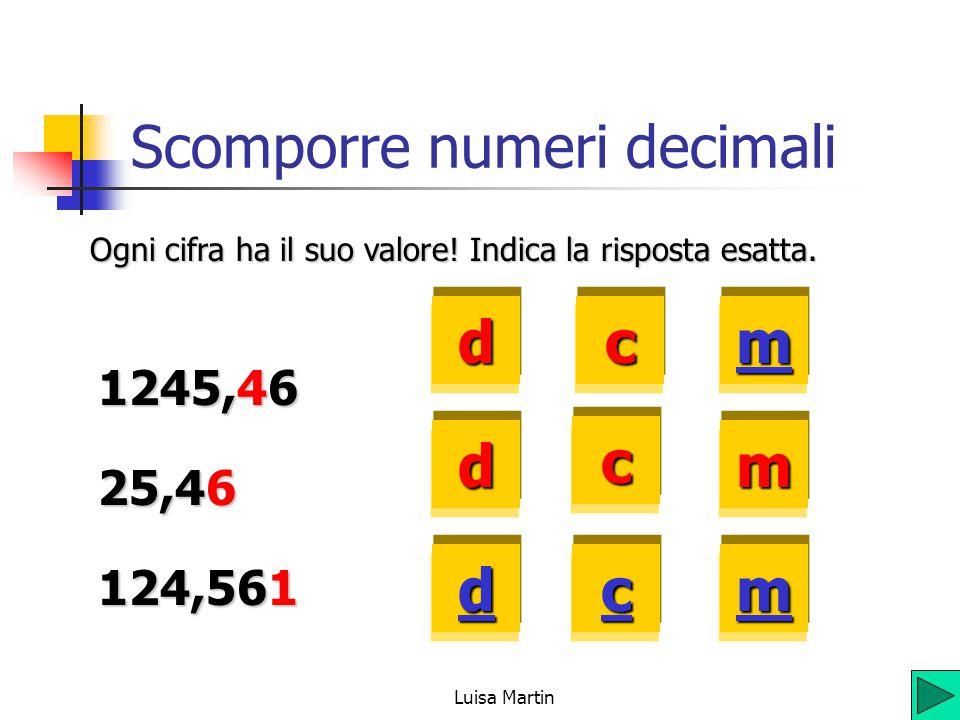 Scomporre numeri decimali