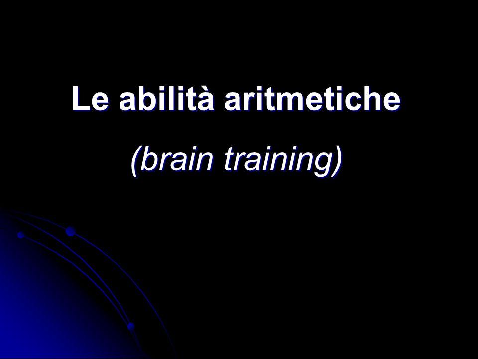 Le abilità aritmetiche