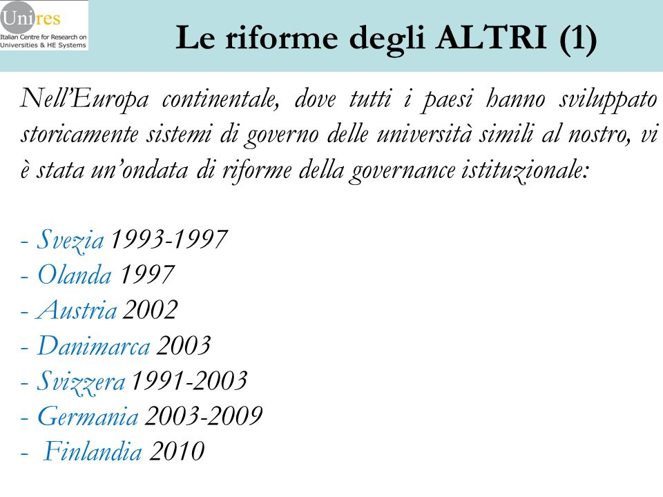 Le riforme degli ALTRI (1)