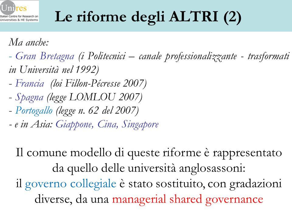 Le riforme degli ALTRI (2)