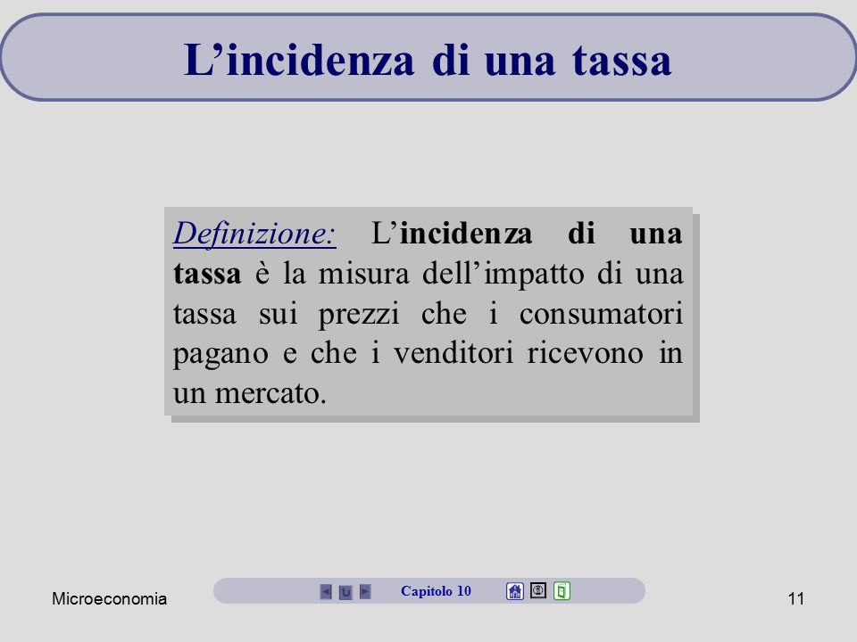 L'incidenza di una tassa
