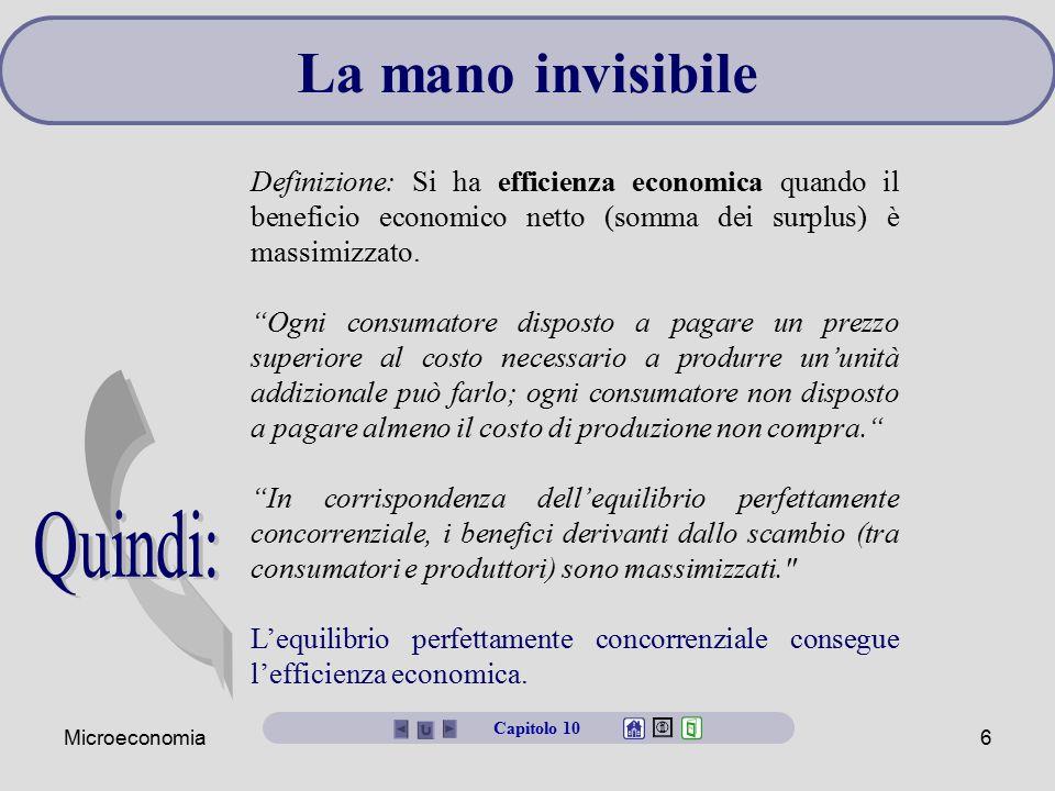 La mano invisibile Quindi: