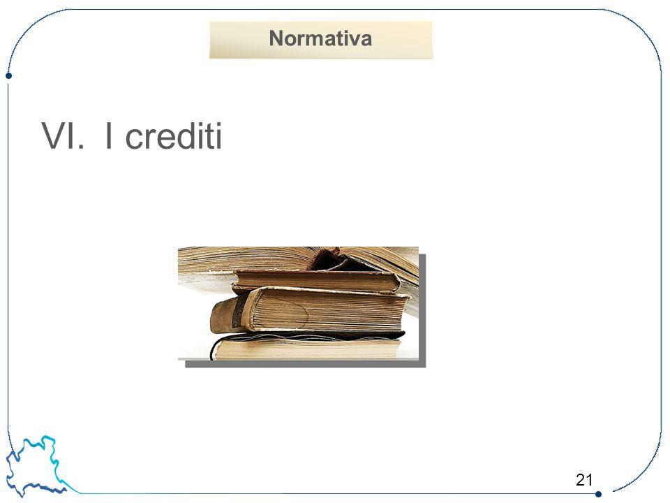 Normativa I crediti 21