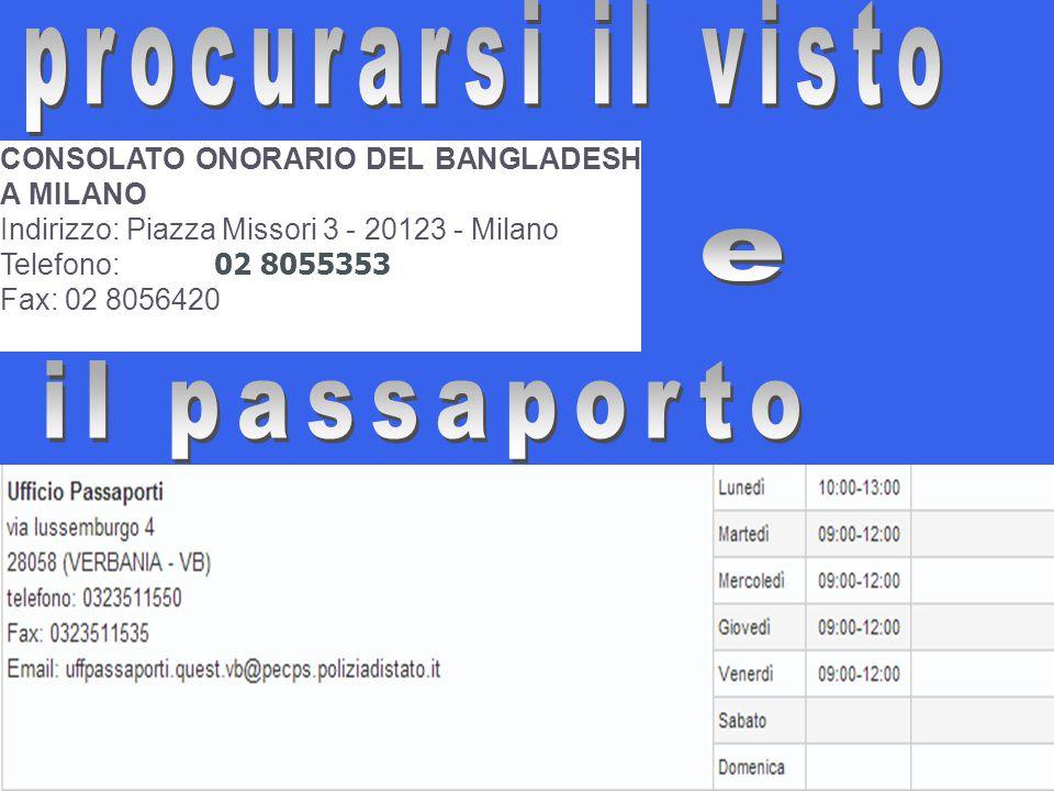 procurarsi il visto e il passaporto
