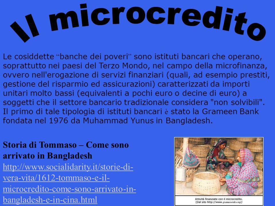 Il microcredito Storia di Tommaso – Come sono arrivato in Bangladesh