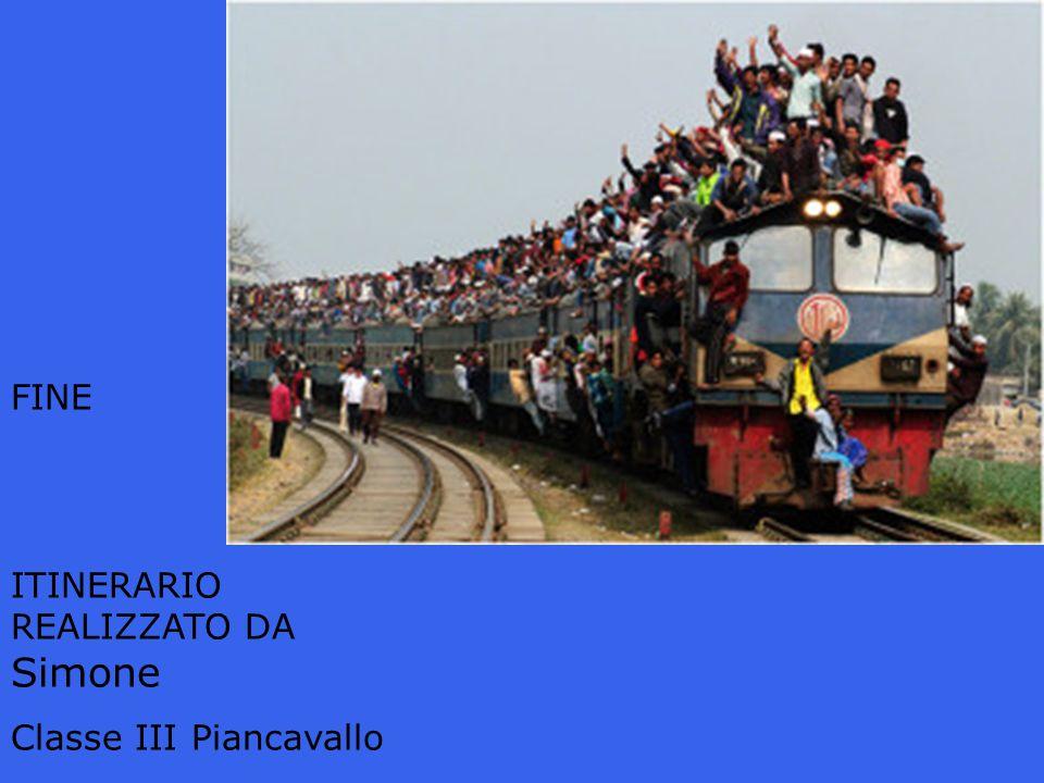 FINE ITINERARIO REALIZZATO DA Simone Classe III Piancavallo