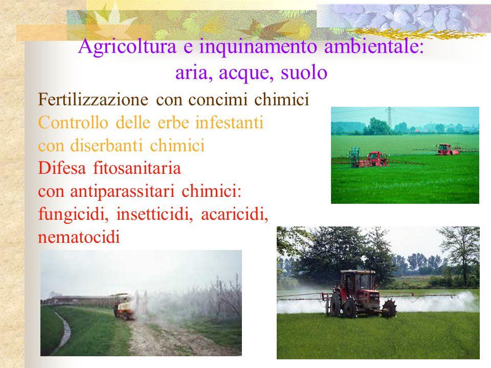 Agricoltura e inquinamento ambientale: aria, acque, suolo