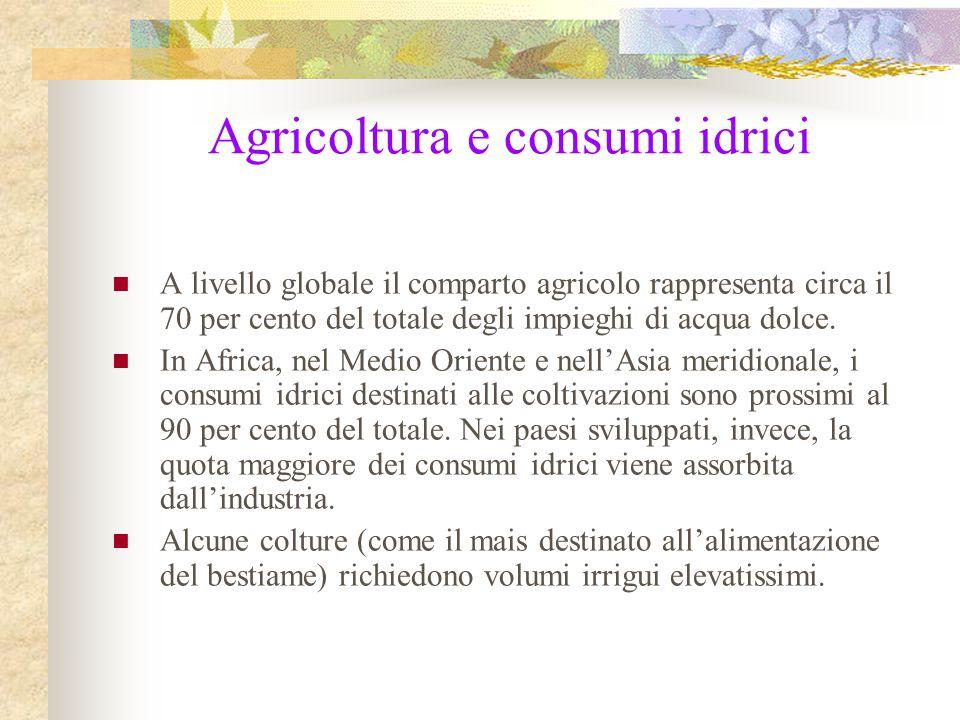Agricoltura e consumi idrici