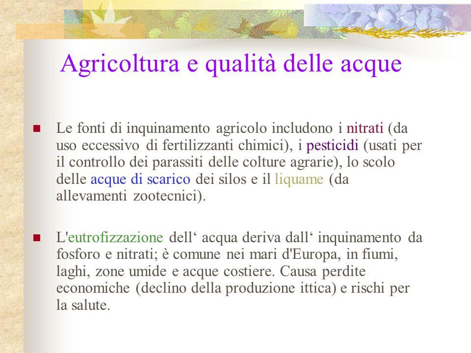 Agricoltura e qualità delle acque