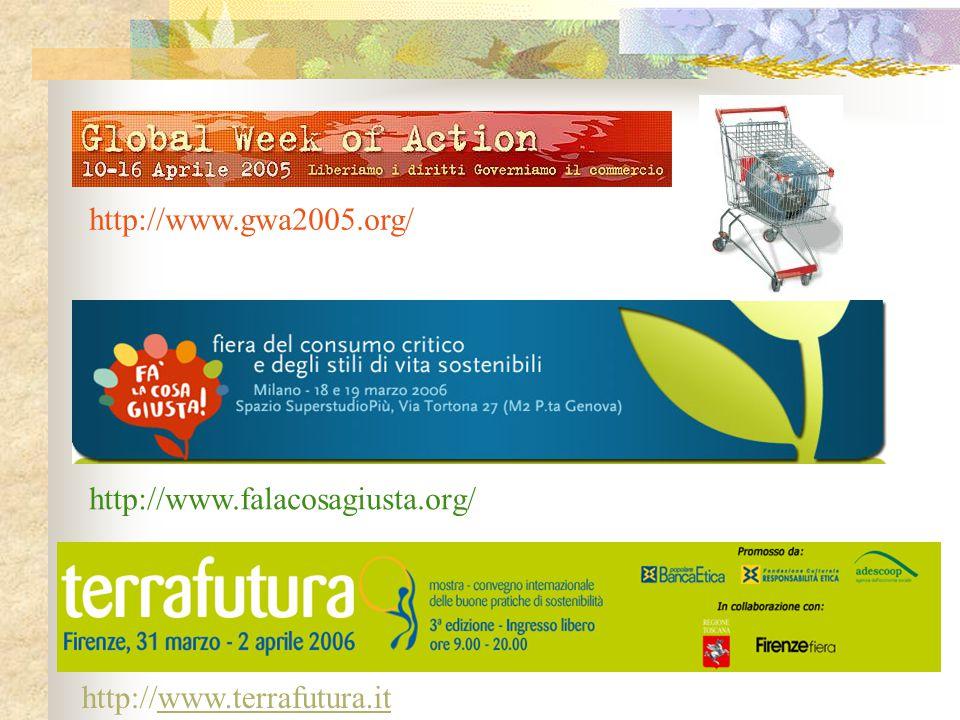 http://www.gwa2005.org/ http://www.falacosagiusta.org/ http://www.terrafutura.it