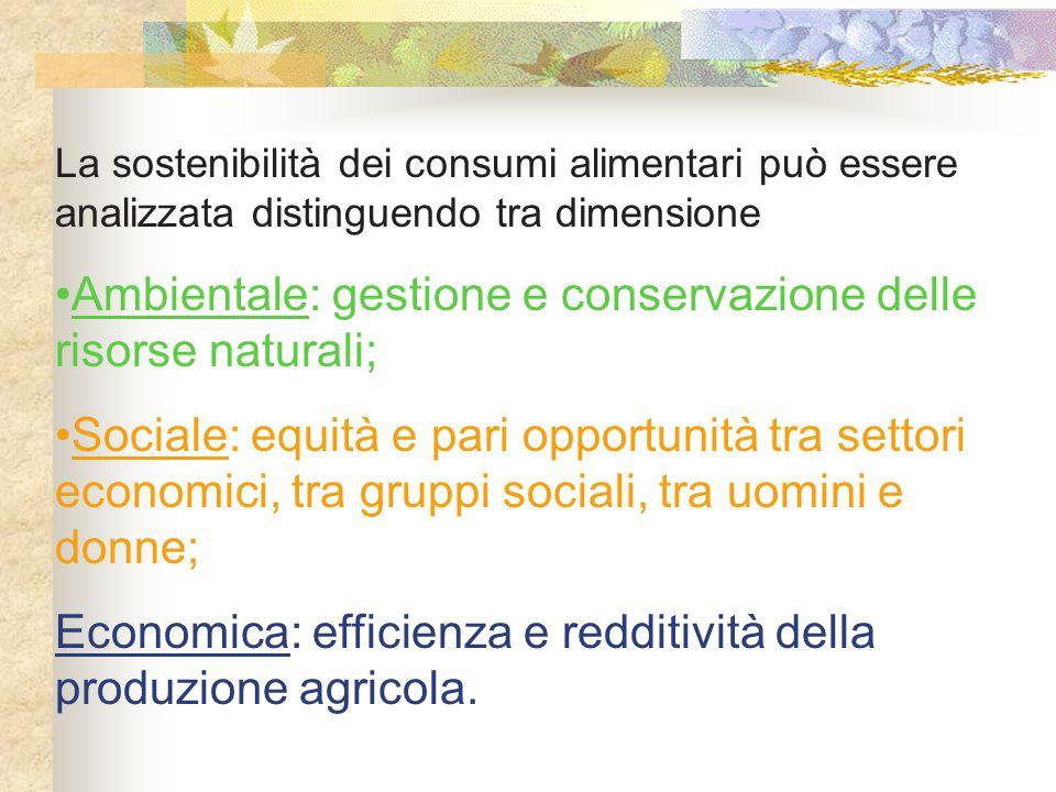 Ambientale: gestione e conservazione delle risorse naturali;