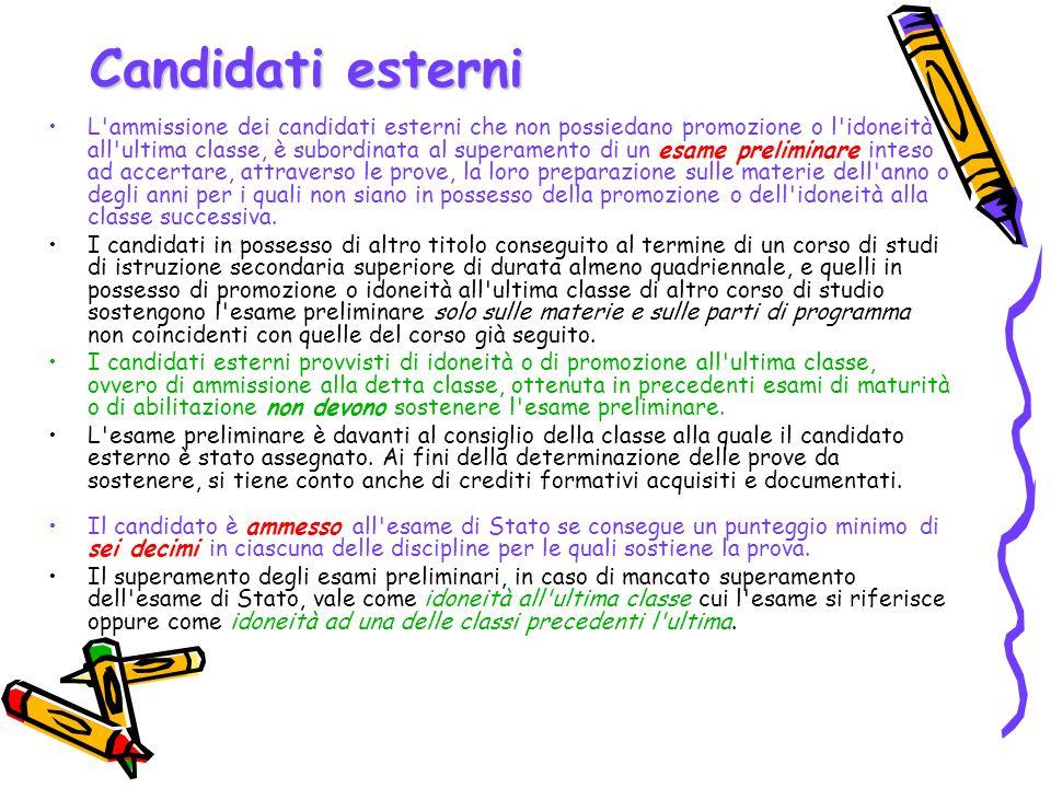 Candidati esterni