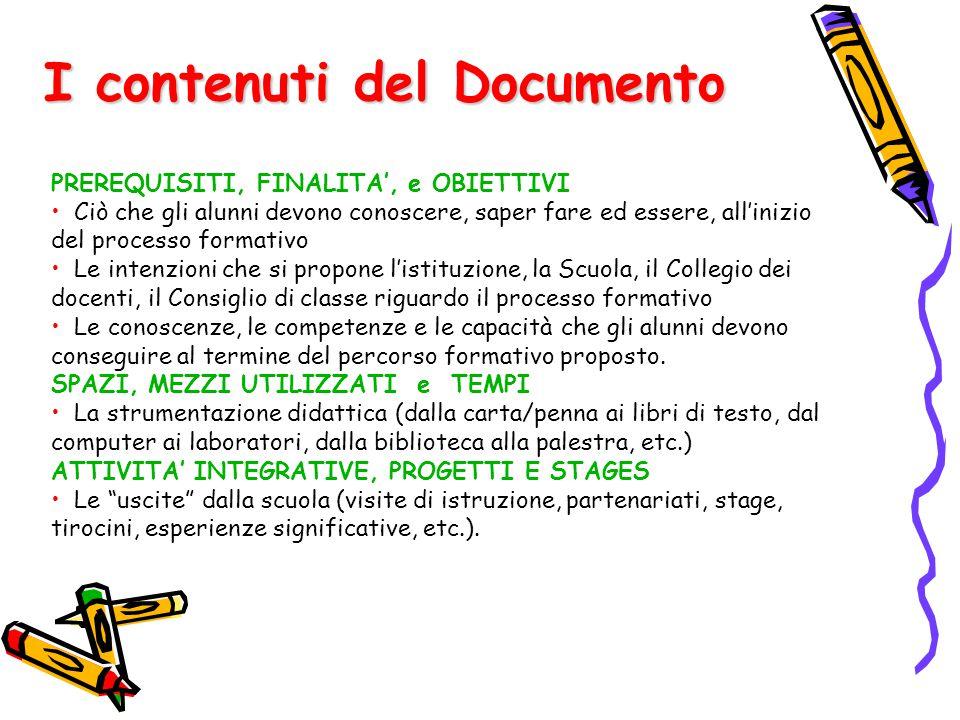 I contenuti del Documento