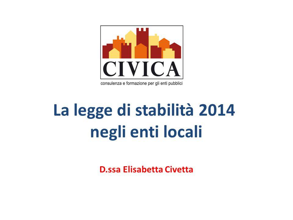 La legge di stabilità 2014 negli enti locali