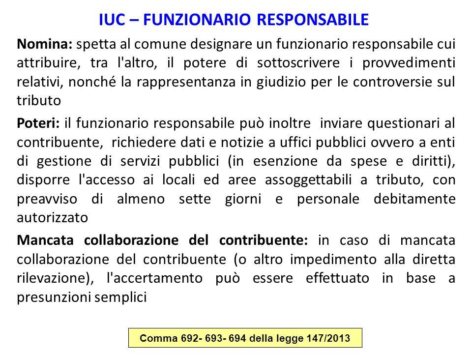 IUC – FUNZIONARIO RESPONSABILE