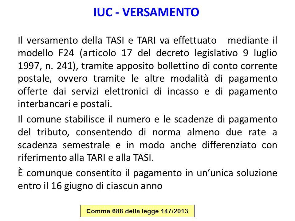 IUC - VERSAMENTO