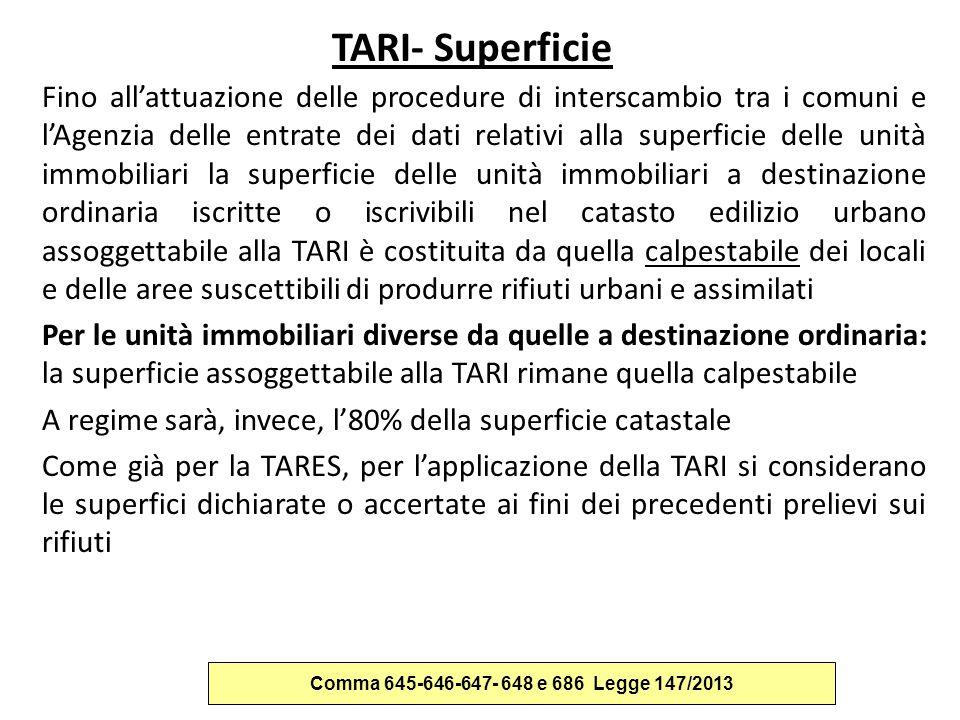 TARI- Superficie
