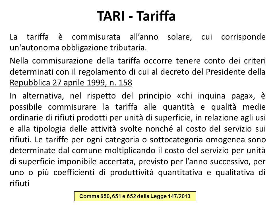 TARI - Tariffa