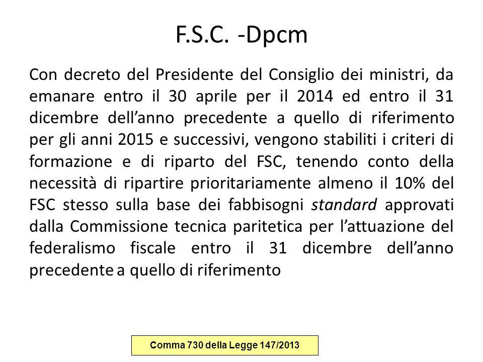 F.S.C. -Dpcm