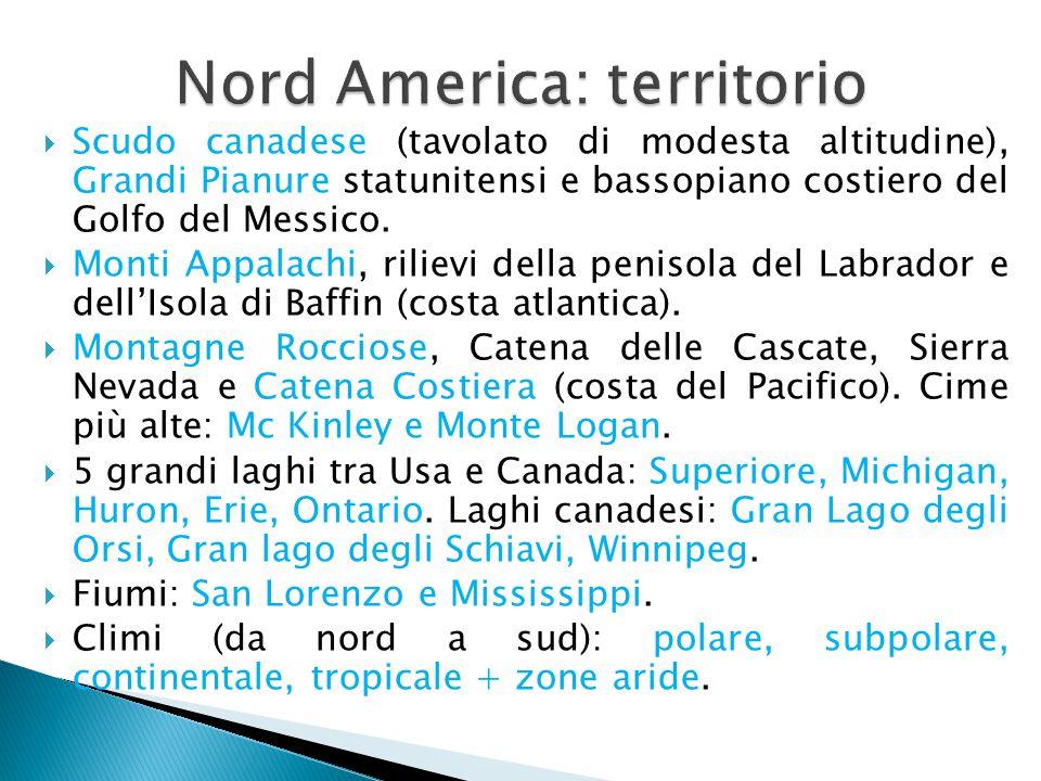 Nord America: territorio