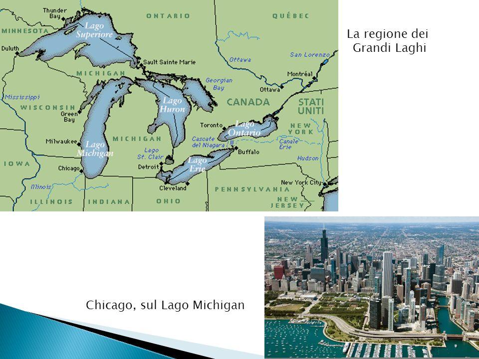La regione dei Grandi Laghi Chicago, sul Lago Michigan