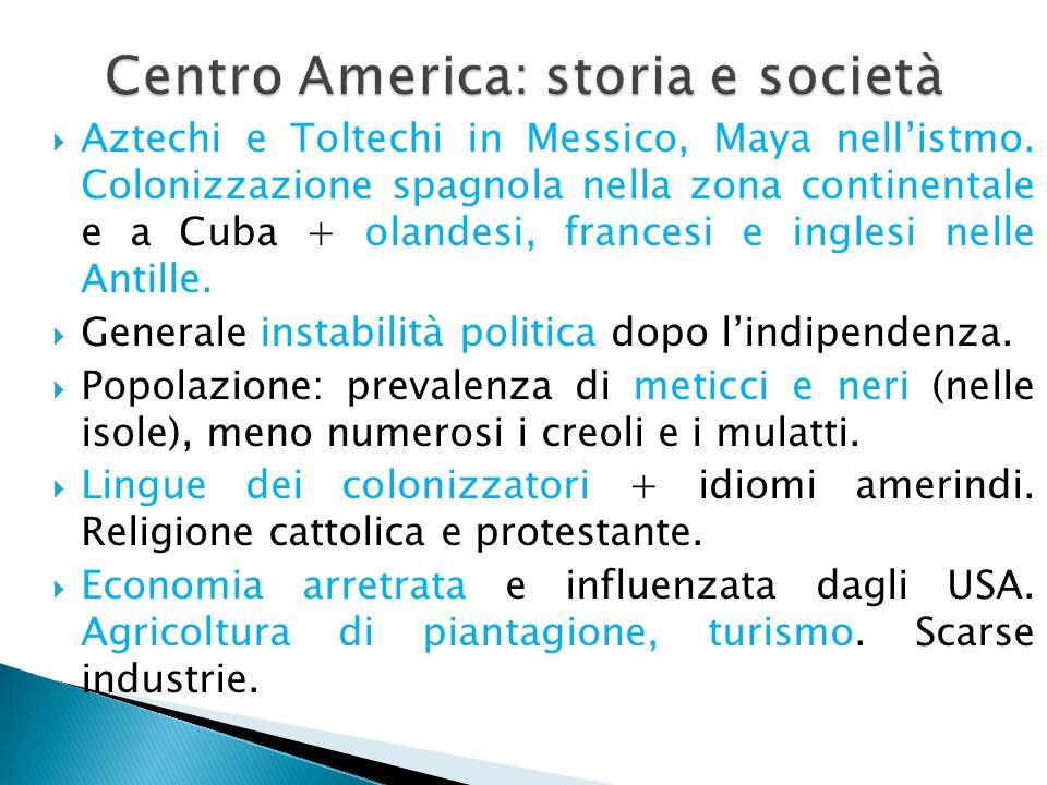 Centro America: storia e società