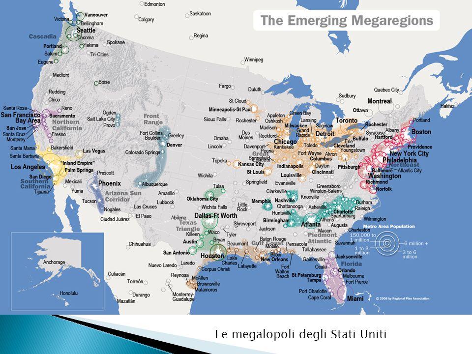 Le megalopoli degli Stati Uniti