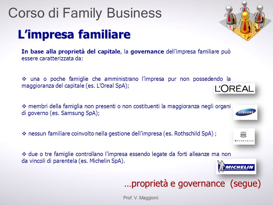 L'impresa familiare …proprietà e governance (segue)