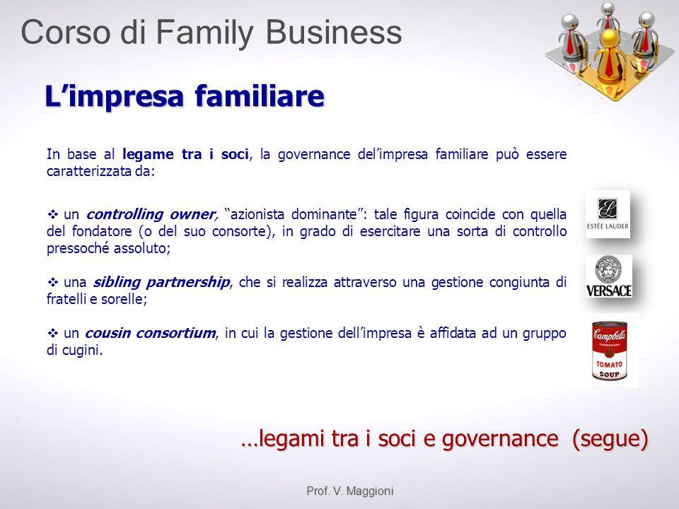 L'impresa familiare …legami tra i soci e governance (segue)