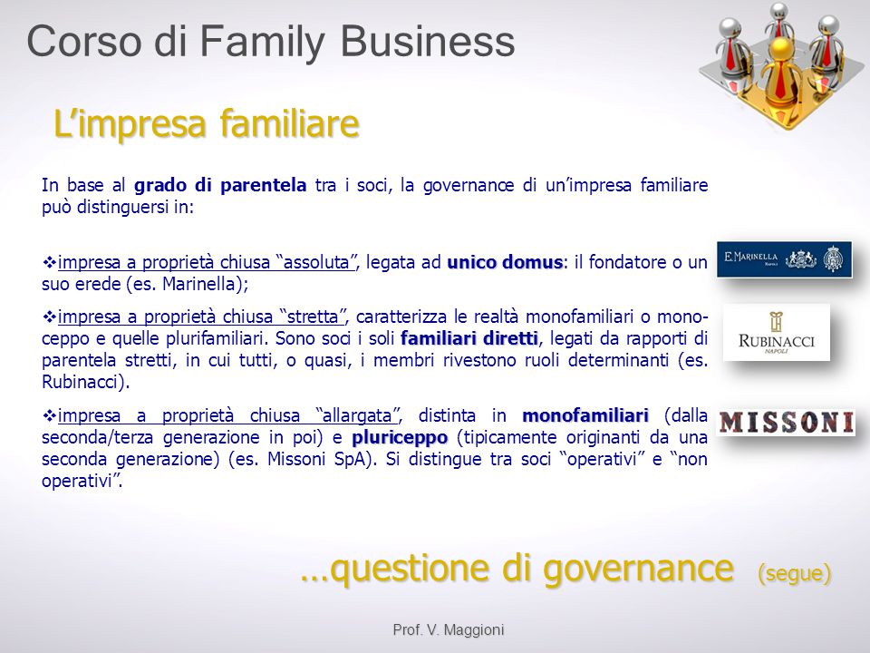 …questione di governance (segue)