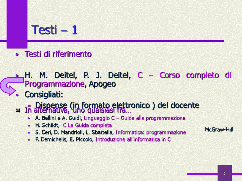 Testi  1 Testi di riferimento