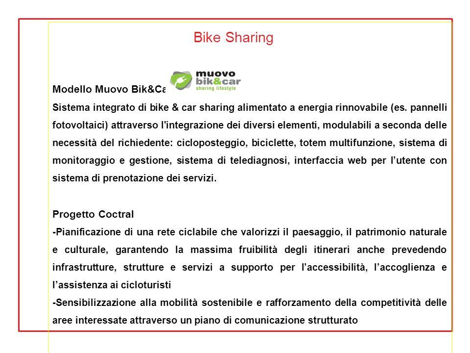 Bike Sharing Modello Muovo Bik&Car Progetto Coctral