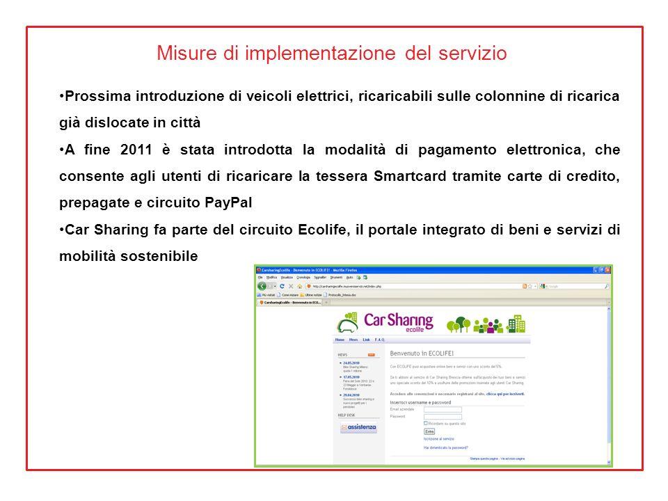 Misure di implementazione del servizio