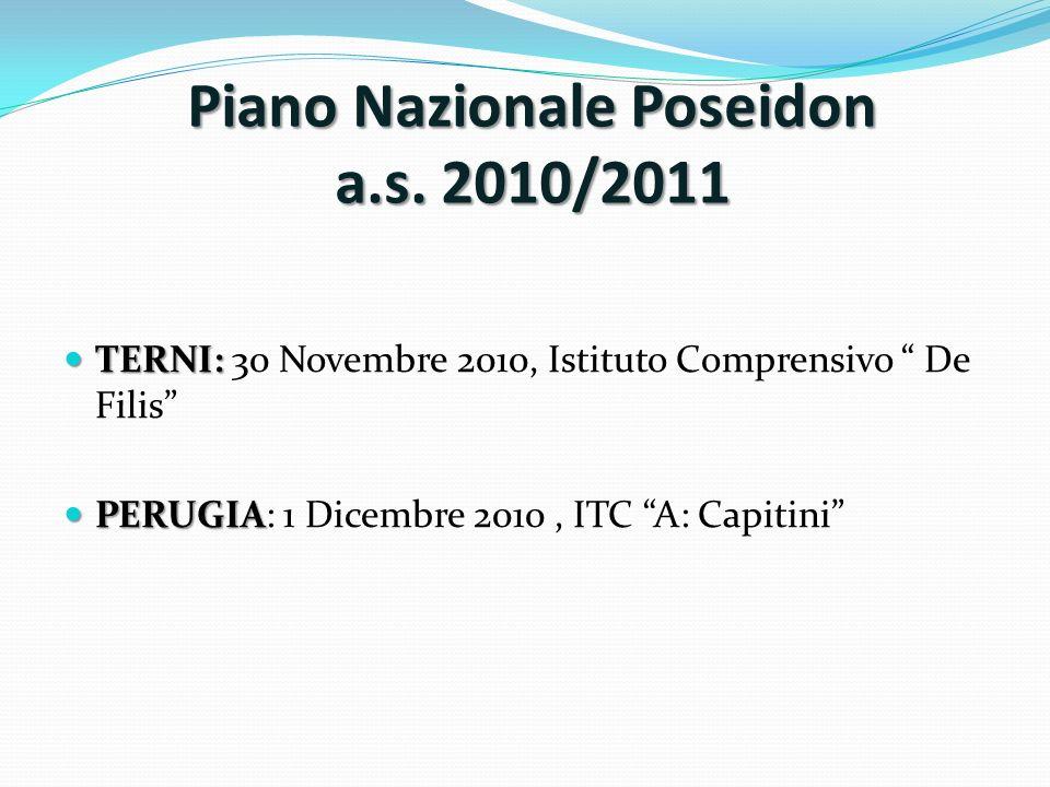 Piano Nazionale Poseidon a.s. 2010/2011