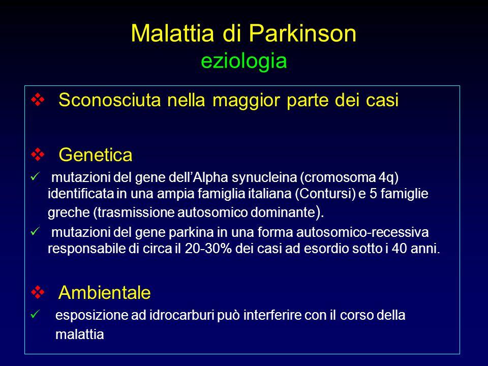 Malattia di Parkinson eziologia