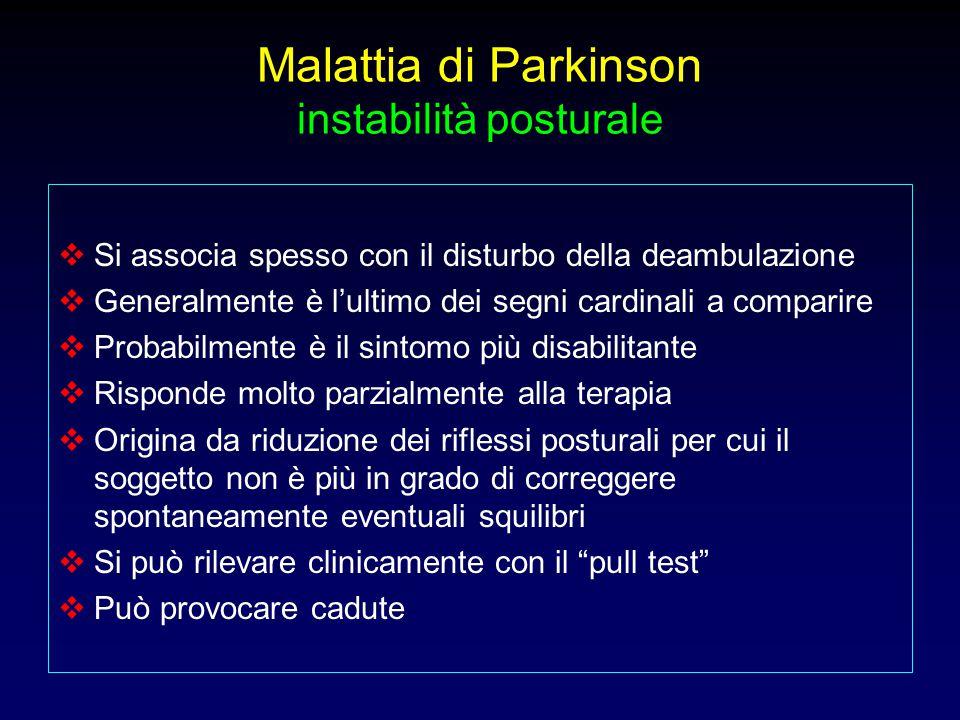 Malattia di Parkinson instabilità posturale
