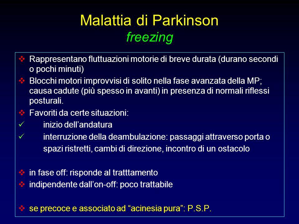 Malattia di Parkinson freezing