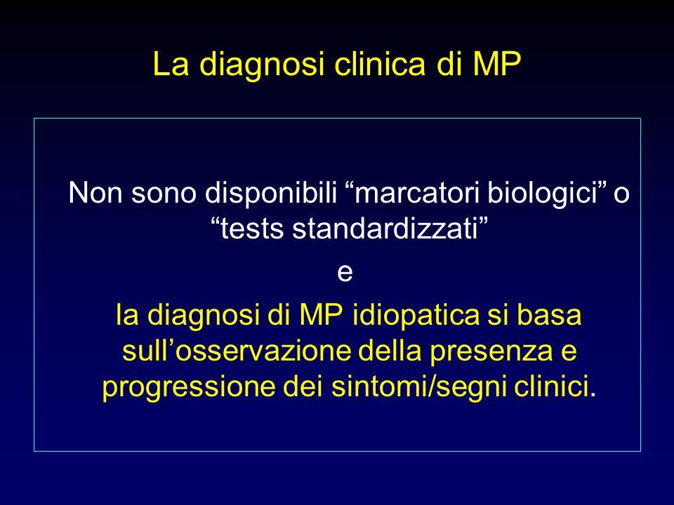 La diagnosi clinica di MP