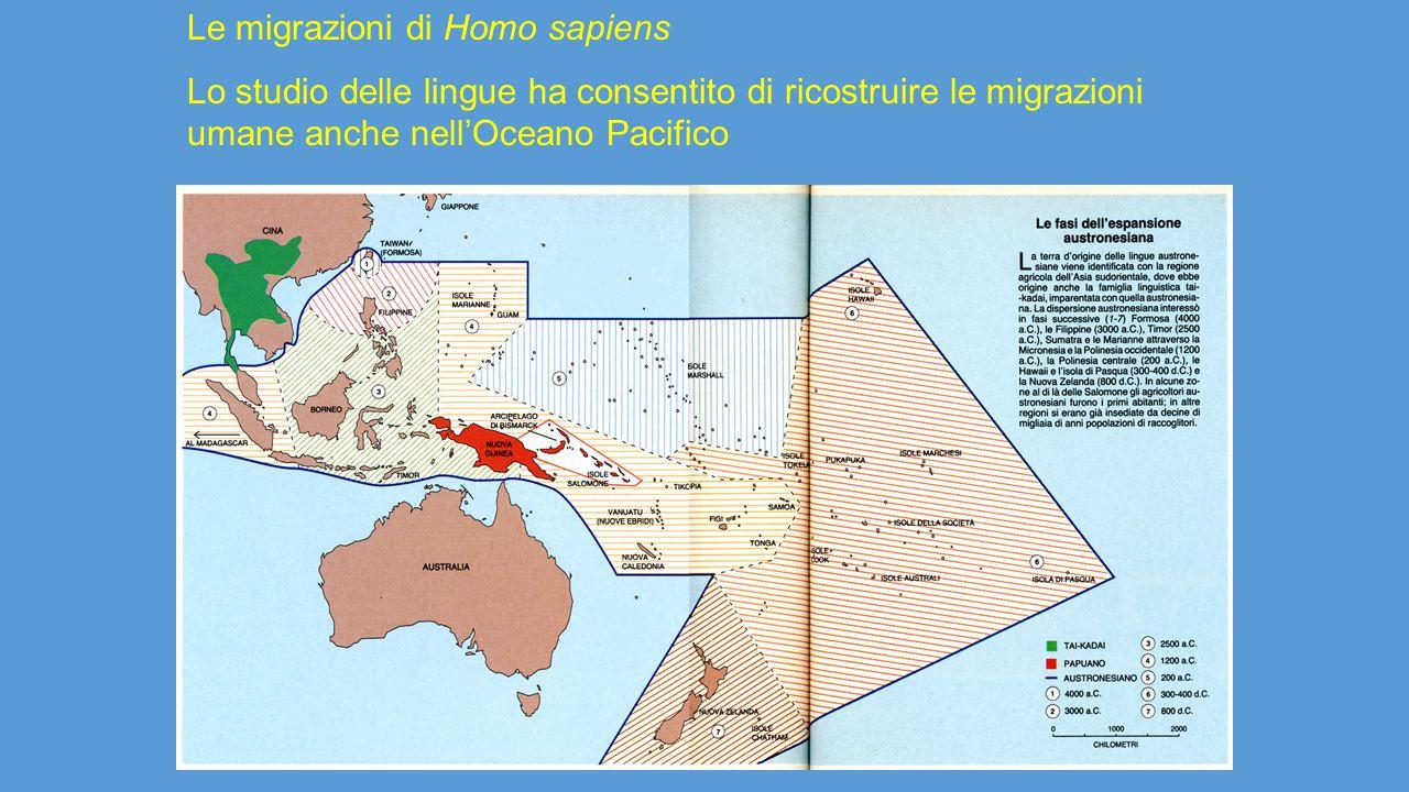 Le migrazioni di Homo sapiens