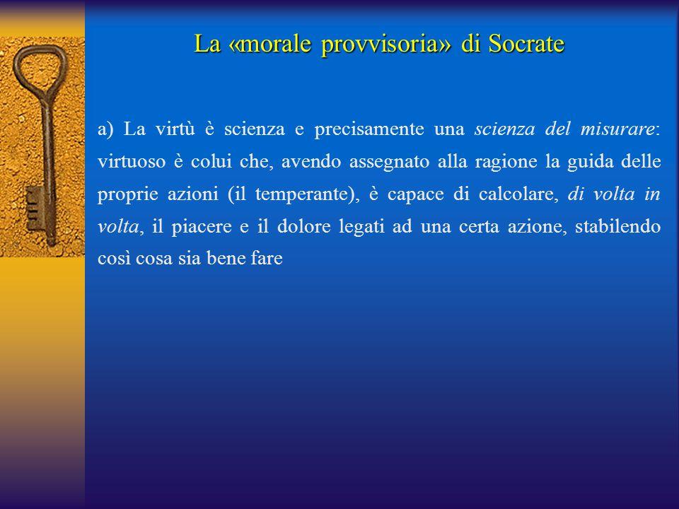 La «morale provvisoria» di Socrate