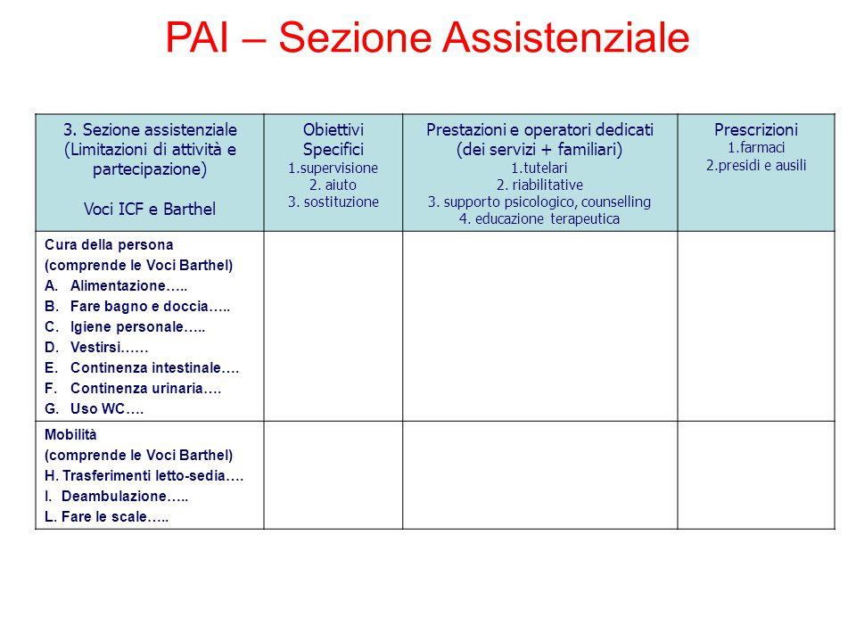 PAI – Sezione Assistenziale