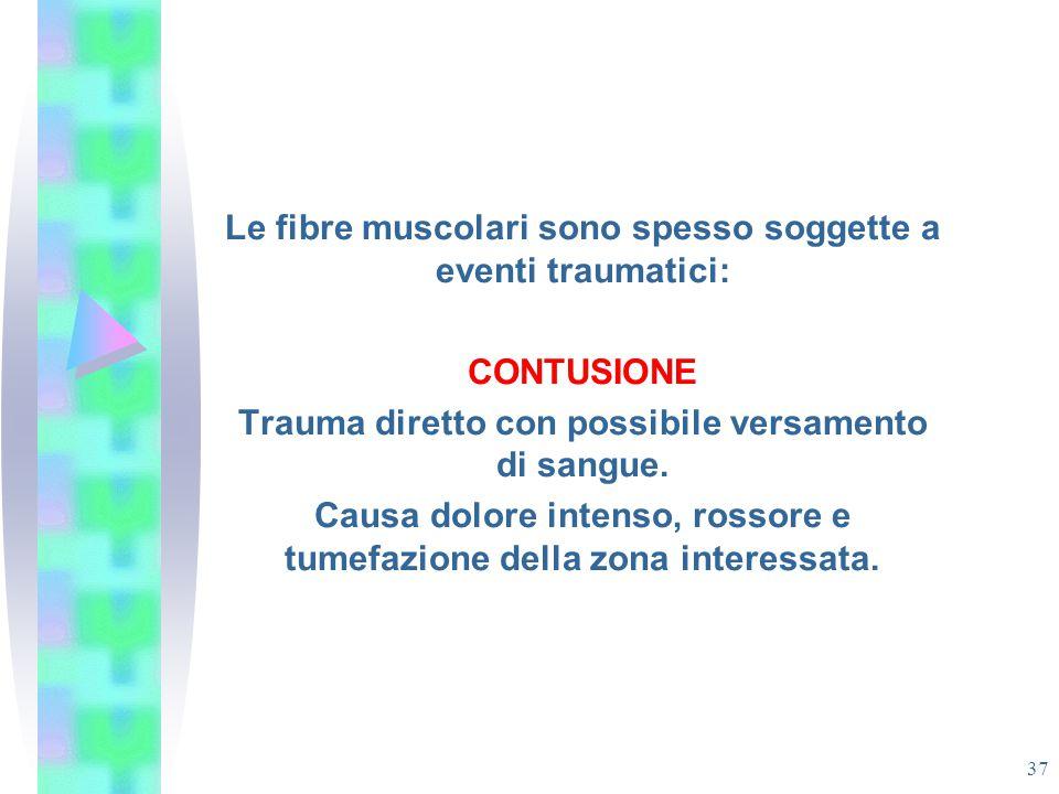 Le fibre muscolari sono spesso soggette a eventi traumatici: