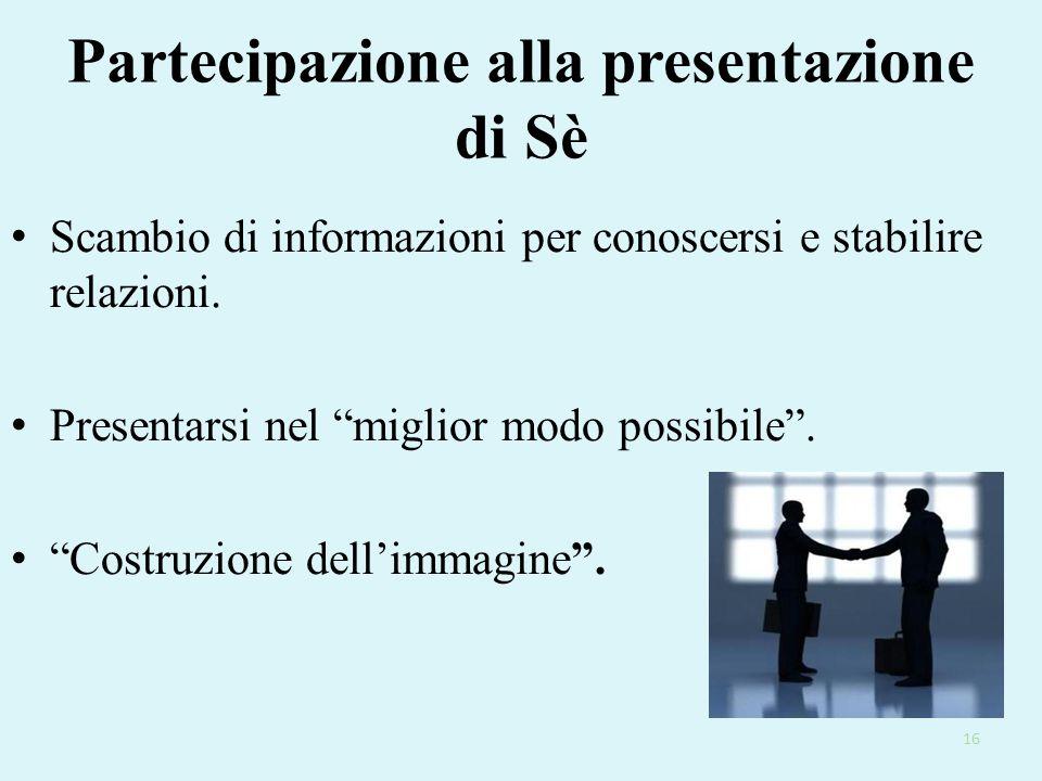 Partecipazione alla presentazione di Sè