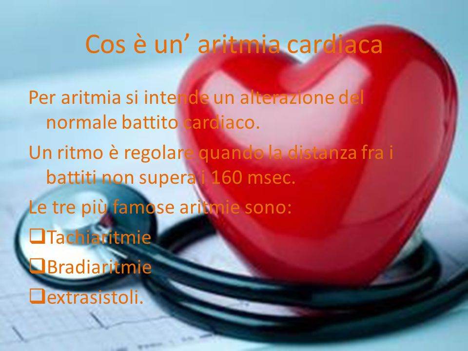 Cos è un' aritmia cardiaca