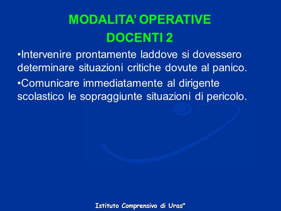 MODALITA' OPERATIVE DOCENTI 2
