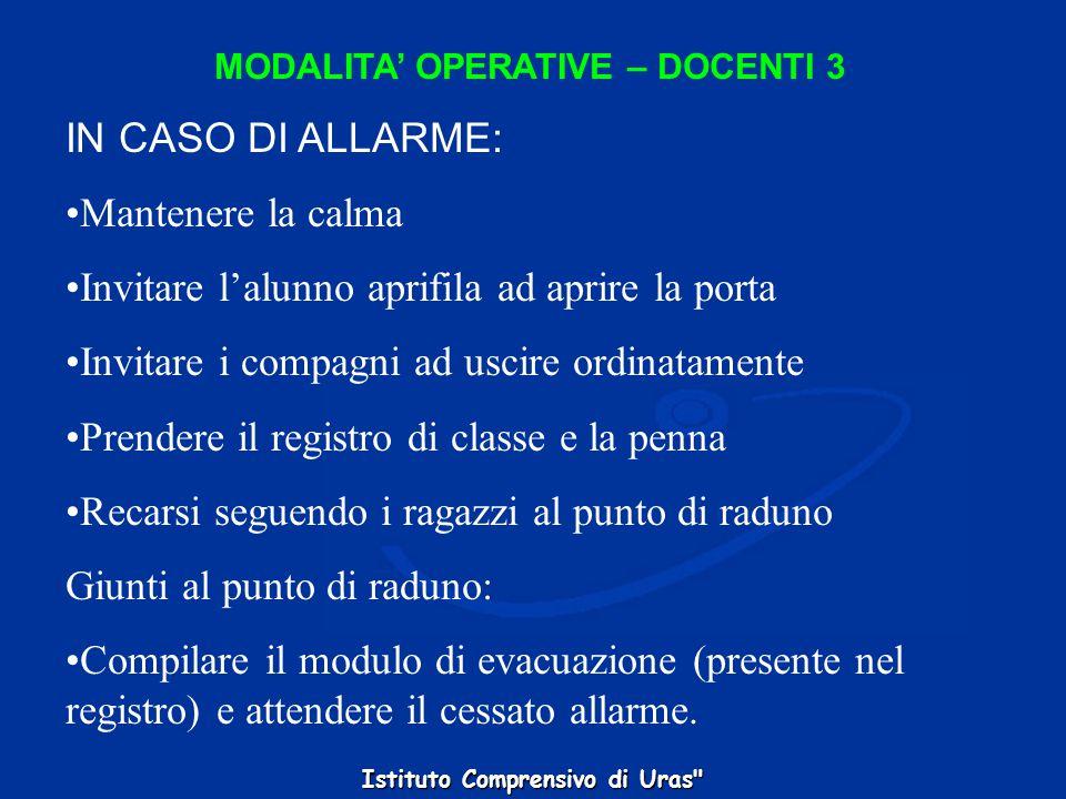 MODALITA' OPERATIVE – DOCENTI 3