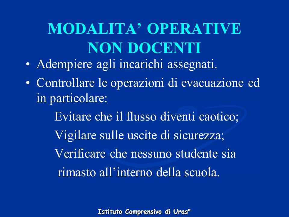 MODALITA' OPERATIVE NON DOCENTI