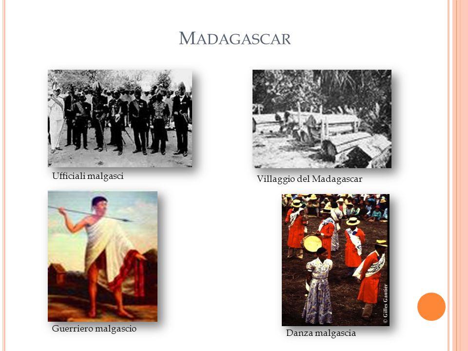 Madagascar Ufficiali malgasci Villaggio del Madagascar